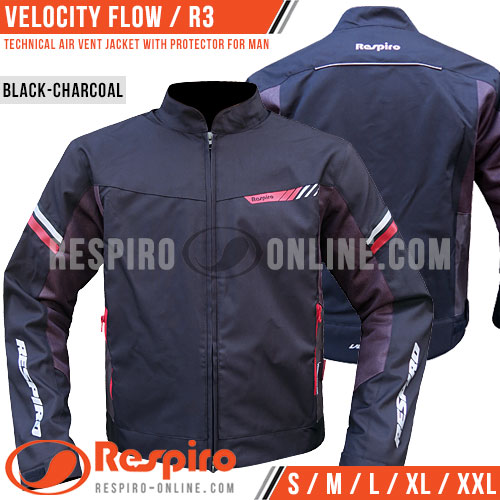 Jaket-Respiro-VELOCITY-FLOW-R32-Black-Charcoal